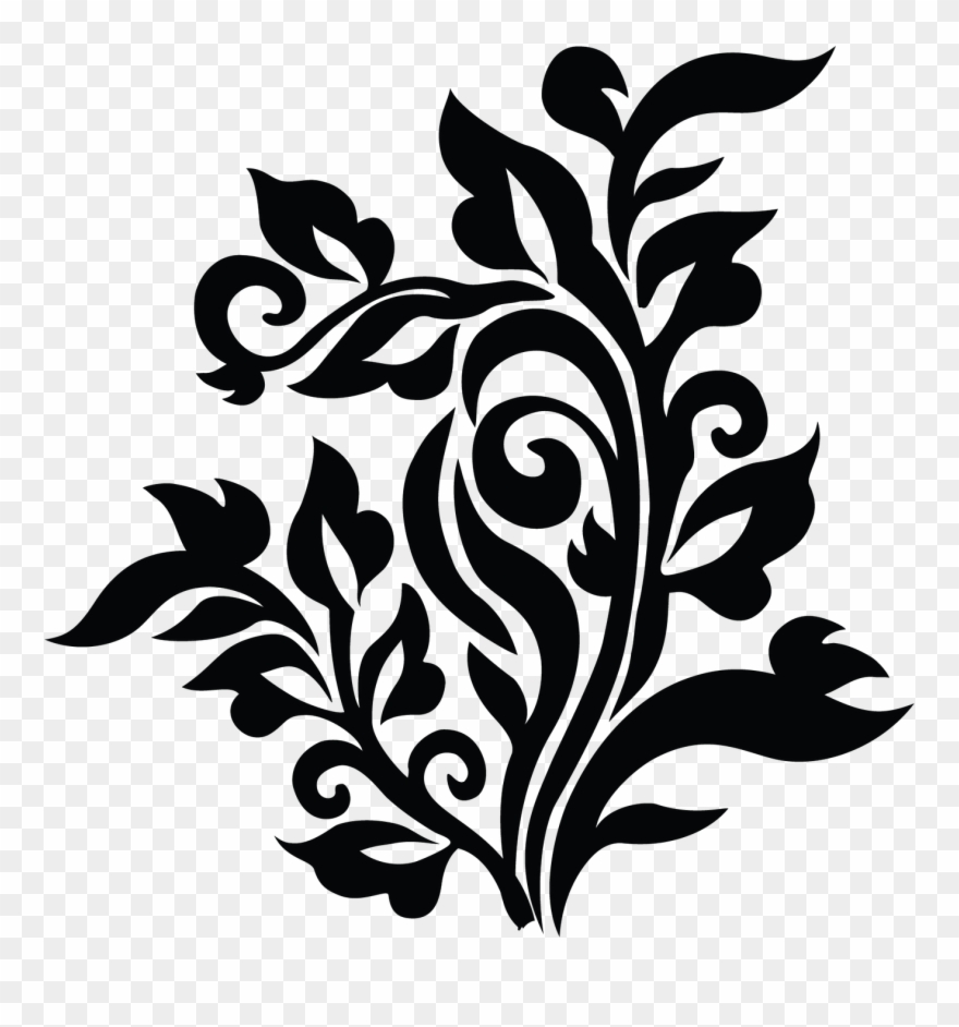 Ornamental clipart vector black and white download Ornamental Clipart Curve - Png Download (#2668692) - PinClipart vector black and white download