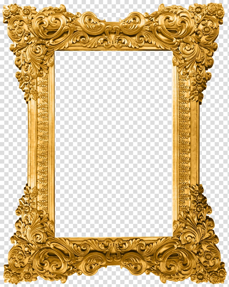 Ornate mirror clipart transparent background png image royalty free library Computer file, Gold pattern frame, gold ornate frame ... image royalty free library