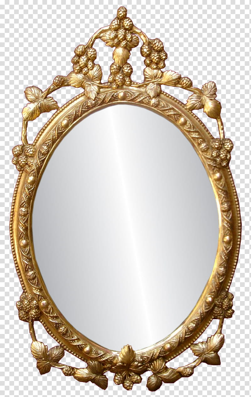 Ornate mirror clipart transparent background png clip royalty free stock Mirror, oval gold framed mirror illustration transparent ... clip royalty free stock