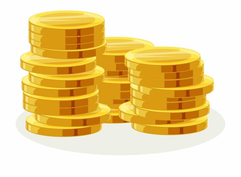 Oro clipart jpg black and white library Coins Clipart Stack Coin - Monedas De Oro Png, Transparent ... jpg black and white library