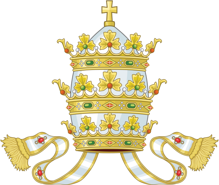 Orthodox bishop crown black and white clipart royalty free stock The Mad Monarchist: Royal Regalia: Recent Papal Tiaras royalty free stock