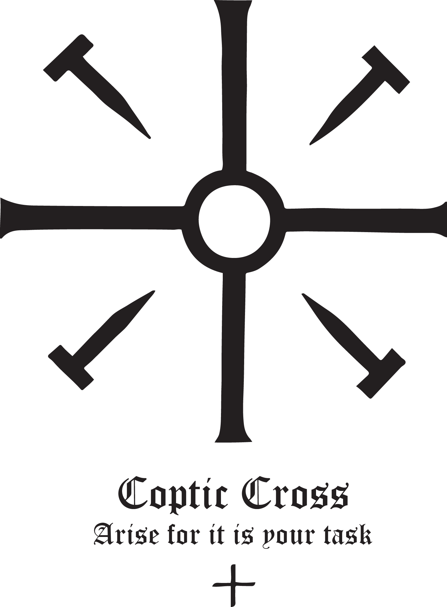 Orthodox bishop crown black and white clipart graphic transparent library Rudolf Koch - Christian Symbol - #118-Coptic-Cross | Pinterest | Symbols graphic transparent library