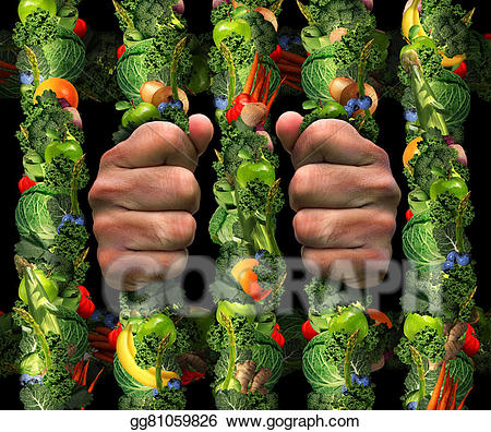 Orthorexia clipart image free stock Clipart - Healthy eating obsession. Stock Illustration ... image free stock