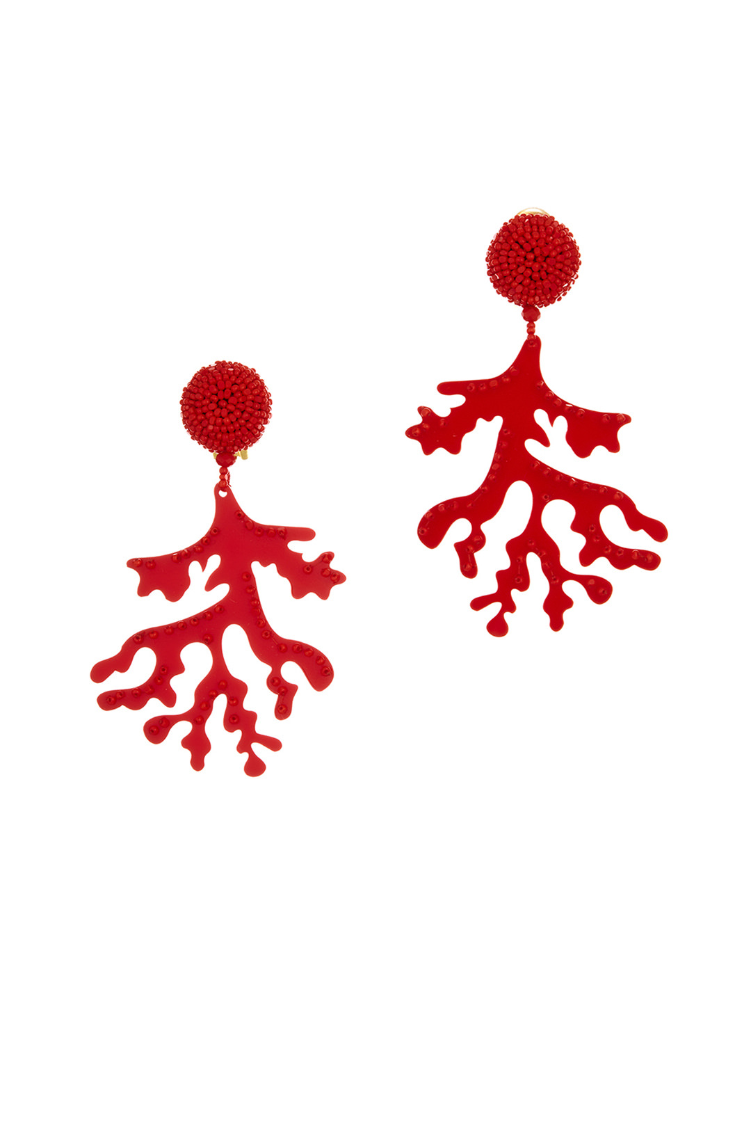 Oscar de la renta logo clipart clipart free download Oscar de la Renta Red Coral Branch Earrings clipart free download