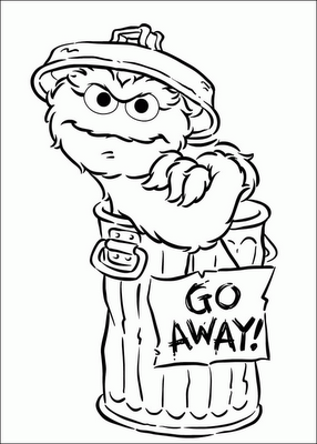Oscar the grouch clipart in black and white svg transparent An Oscar Obsession: Oscar the Grouch Coloring Pages | DIY ... svg transparent