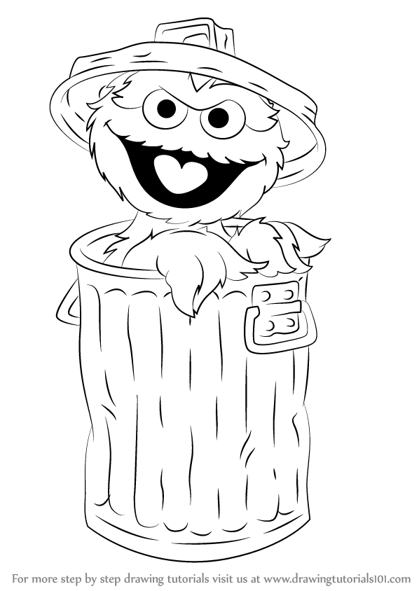 Oscar the grouch clipart in black and white picture transparent stock Oscar The Grouch Png , (+) Png Group - romolagarai.org< picture transparent stock
