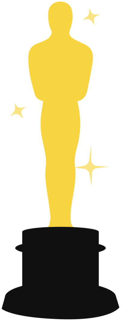Oscars clipart black and white stock Collection of Oscar clipart   Free download best Oscar ... black and white stock