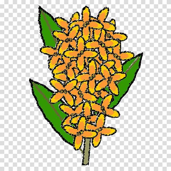 Osmanthus clipart picture freeuse library Osmanthus fragrans var. aurantiacus Monochrome painting Art ... picture freeuse library