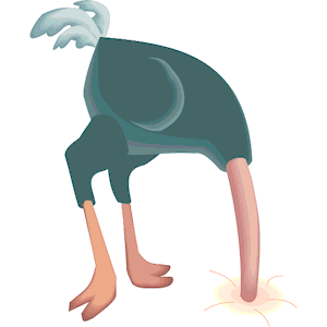 Ostrich with head in the sand clipart royalty free stock Ostrich Head Out of Sand clipart, cliparts of Ostrich Head ... royalty free stock