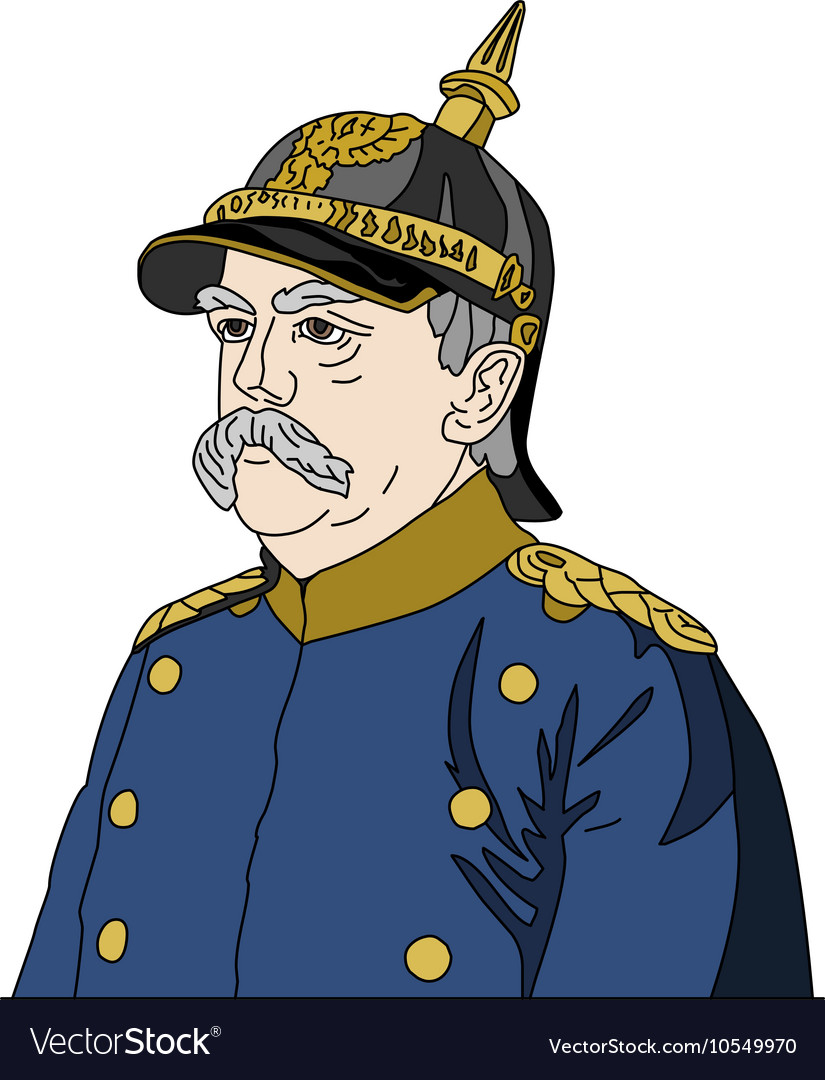 Otto von bismarck clipart vector free Otto von Bismarck the Iron Chancellor vector free