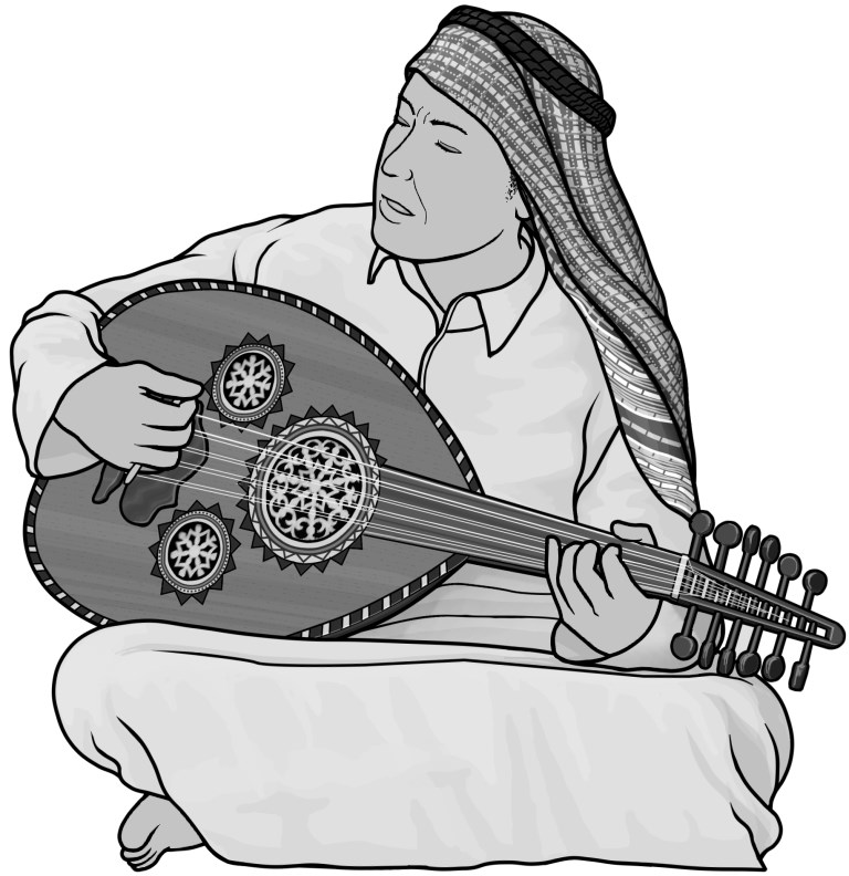 Oud clipart picture library download Grayscale free images / oud picture library download
