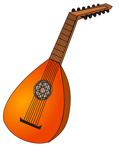 Oud clipart png black and white Oud instrument vector image | Public domain vectors png black and white