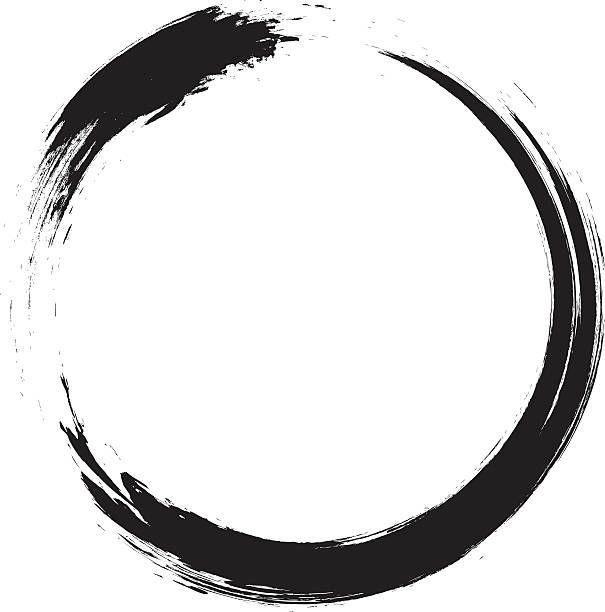 Ouroboros vector clipart svg library stock Enso – Circular brush stroke (Japanese zen circle ... svg library stock