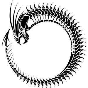 Ouroboros vector clipart image free download Pseudo-Tribal Ouroboros clipart, cliparts of Pseudo-Tribal ... image free download