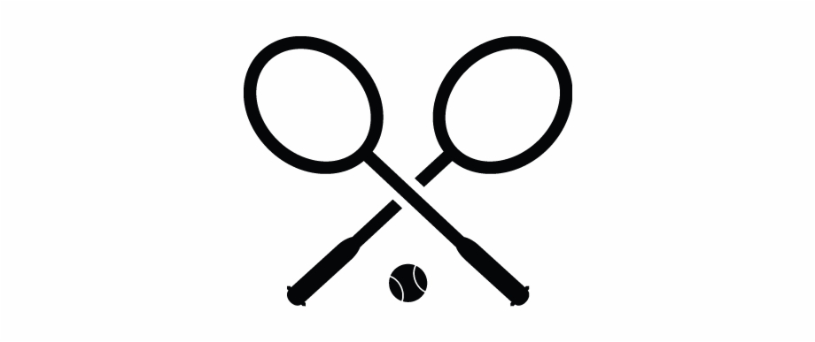 Outdoor game equipment black and white clipart vector free stock Badminton Bat, Equipment, Outdoor Games, Sports Icon ... vector free stock