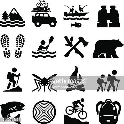 Outdoor recreation clipart jpg royalty free Outdoor Recreation Icons Black Series premium clipart ... jpg royalty free