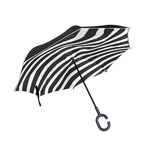 Outdoor umbrella clipart free black and white svg library Amazon.com: AHOMY Inverted Reverse Umbrella Black And White ... svg library