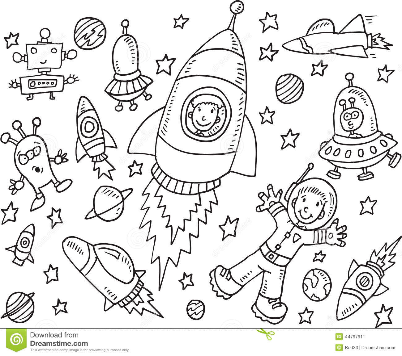 Outer space clipart black and white clipart freeuse download Space Clip Art Black And White (103+ images in Collection ... clipart freeuse download