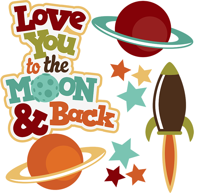 Outer space house clipart jpg stock Love You To The Moon & Back SVG space svg outer space clipart cute ... jpg stock