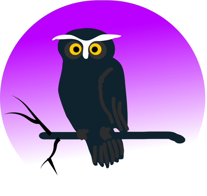 Outer space owl clipart svg transparent Owl Clipart - Animated Images & Vector Graphics of Owls svg transparent