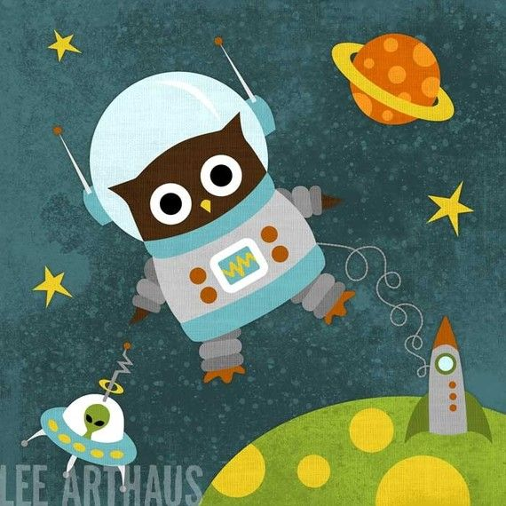 Outer space owl clipart graphic library Owl Astronaut Print. Charming! | For my Little Man | Owl ... graphic library