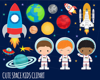Outerspace clipart vector royalty free download Space Clipart, Astronaut Clipart, Rocket, Outer Space Clipart, Alien Clipart vector royalty free download
