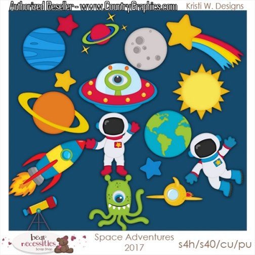 Outerspace clipart svg black and white library Outer Space Clipart Set svg black and white library