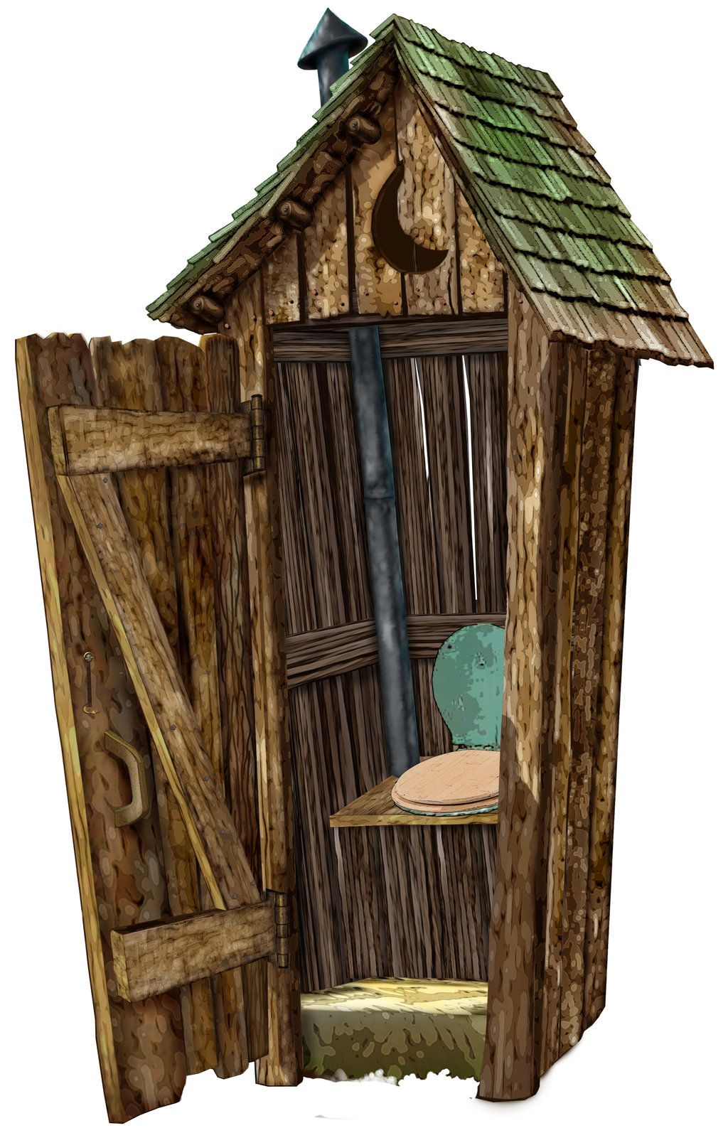 Outhouse clipart graphic freeuse stock Outhouse by marcgosselin   OUTHOUSE   Outhouse bathroom ... graphic freeuse stock