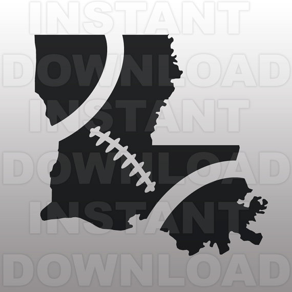 Outline clipart svg image royalty free library Football Louisiana Outline SVG File Cutting Template-Clip Art image royalty free library