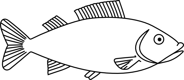 Outline clipart svg graphic black and white library Fish Outline clip art Free vector in Open office drawing svg ... graphic black and white library