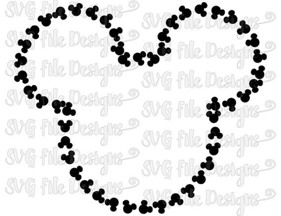 Outline clipart svg svg transparent library Mickey Mouse Head Pattern Outline Disney Cutting File / Printable ... svg transparent library