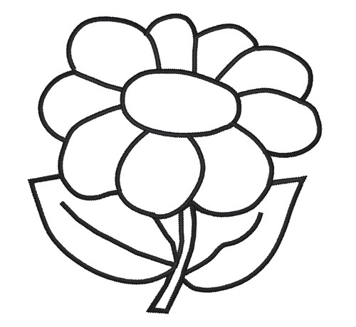 Outline flowers clip art png library library Flower Outline Clipart - Clipart Kid png library library