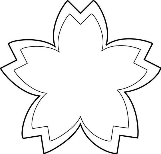 Outline flowers clip art image black and white download Flower Outline Clip Art Black and White | Clip Art | Pinterest ... image black and white download