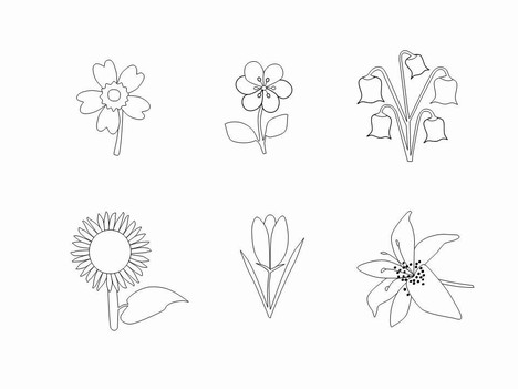 Outline flowers clip art clipart royalty free download Flower Outlines Clip Art clipart royalty free download