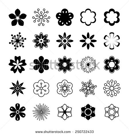 Outline images of flowers graphic free Simple Flower Outline Stock Images, Royalty-Free Images & Vectors ... graphic free