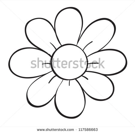 Outline images of flowers graphic library Simple Flower Outline Stock Images, Royalty-Free Images & Vectors ... graphic library