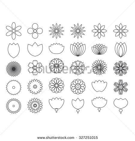 Outline images of flowers vector transparent Flower Outline Stock Images, Royalty-Free Images & Vectors ... vector transparent