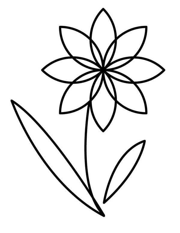 Outline images of flowers image royalty free download Flower Outline Coloring Pages, flowers outline. Coloring trend ... image royalty free download