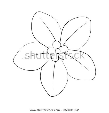 Outline images of flowers banner royalty free stock Simple Flower Outline Stock Images, Royalty-Free Images & Vectors ... banner royalty free stock