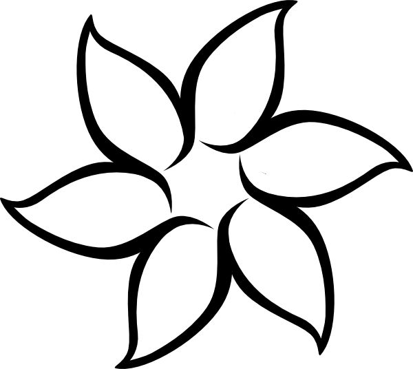 Outline images of flowers png download 17 Best ideas about Flower Outline on Pinterest | Flower outline ... png download