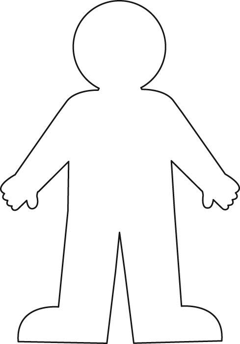Outline of a body clipart picture free library Free Human Body Outline Printable, Download Free Clip Art ... picture free library