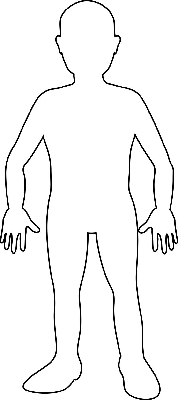 Outline of a body clipart clip stock Human Body Outline Printable - Cliparts.co clip stock