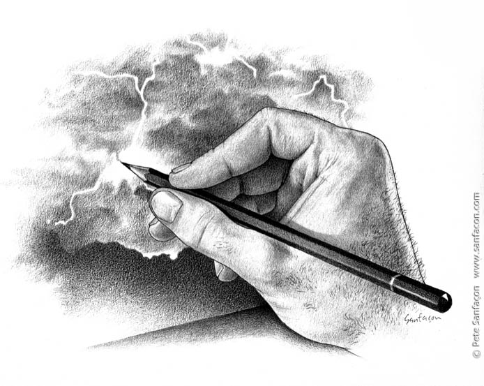 Outline of a hand and pencil drawing clipart png free library Hand Holding Pencil Drawing at PaintingValley.com   Explore ... png free library