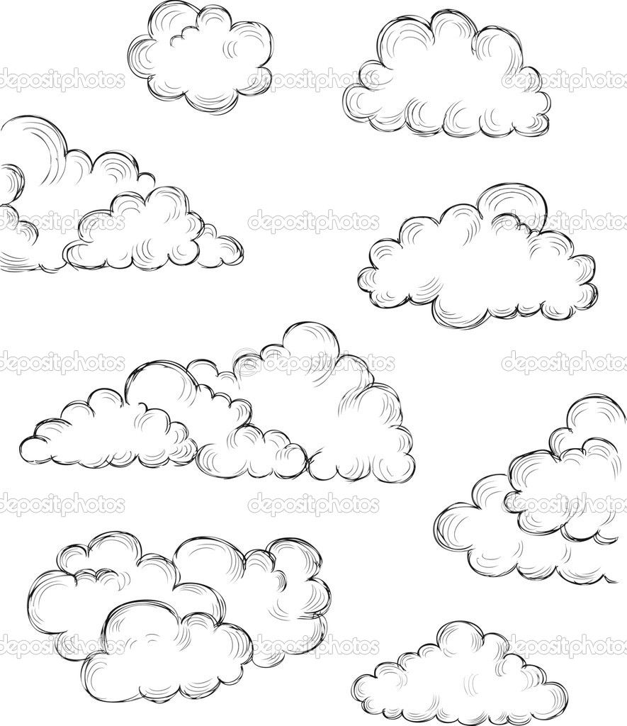 Outline of a hand and pencil drawing clipart clip art transparent download Hand drawn clouds — Stock Vector © makeitdouble #26210759 ... clip art transparent download