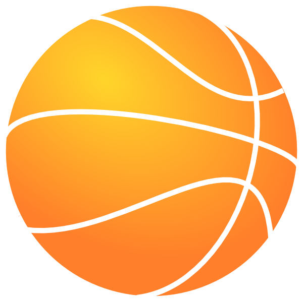 Outline of basketball clipart clip black and white Bball Outline Clip Art at Clker.com - vector clip art online ... clip black and white