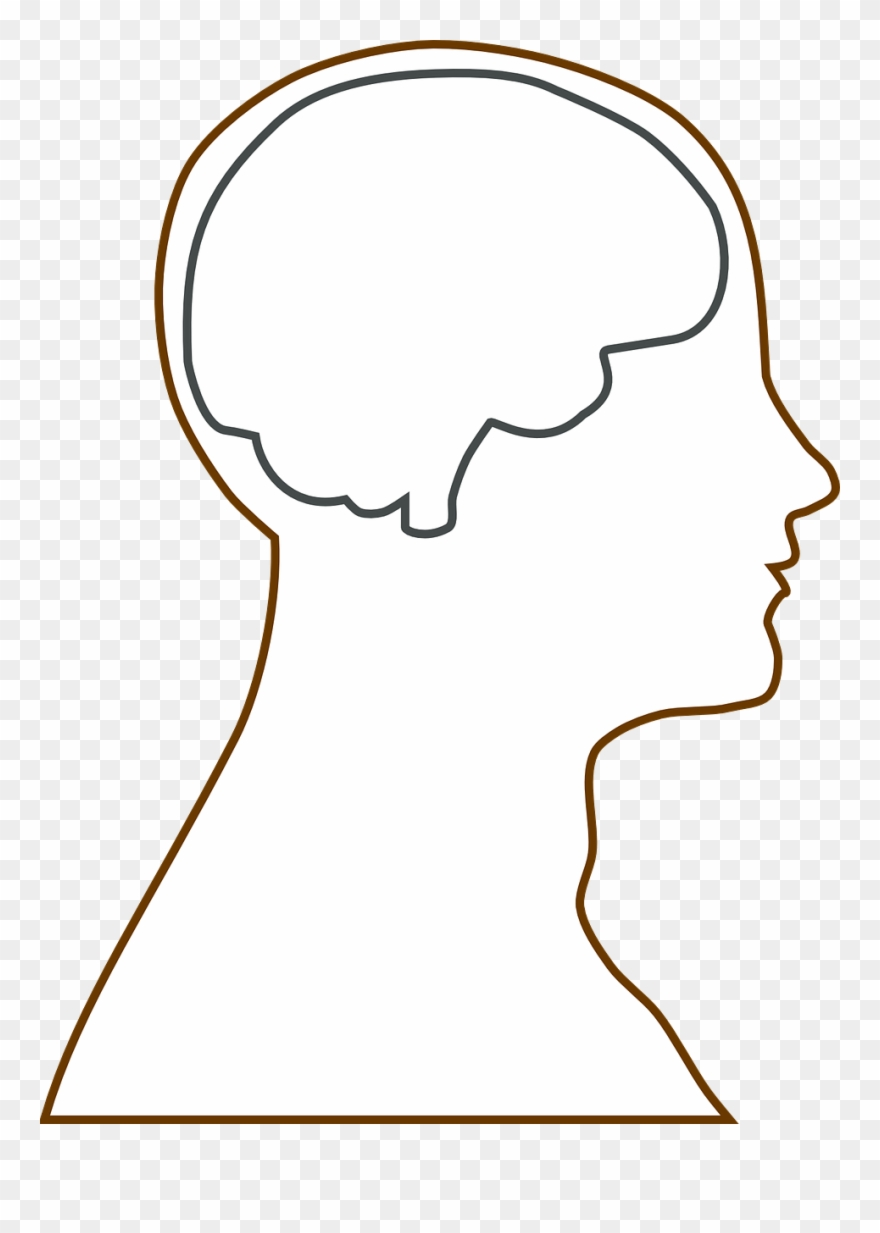 Outline of head clipart vector free download Brain Head Science - Head Outline Clipart (#1828392 ... vector free download