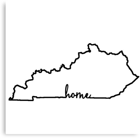 Outline of kentucky clipart vector freeuse stock \'Kentucky Home Outline\' Canvas Print by ohioinspired vector freeuse stock