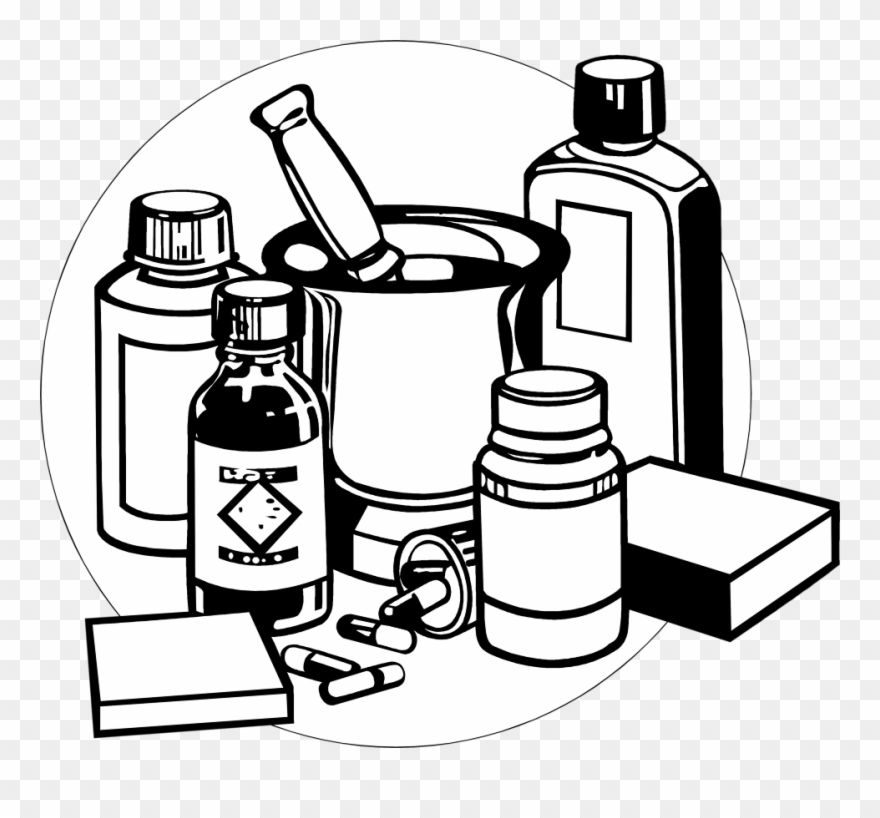 Outline of old fashioned medicine bottle clipart black and white jpg freeuse download Banner Transparent Library Free Imagesdownload Images ... jpg freeuse download
