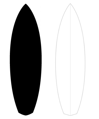 Outline of surfboard clipart picture royalty free library Outline of surfboard clipart - ClipartFest picture royalty free library