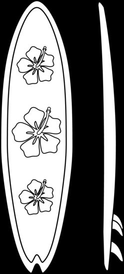 Outline of surfboard clipart graphic black and white Surfboard pattern. Use the printable outline for crafts, creating ... graphic black and white